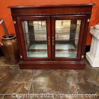 Small Console Curio Cabinet