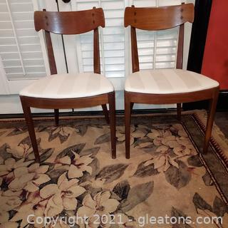 Set of 2 Kipp Stewart Drexel Declaration Dining Chairs