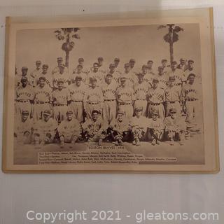 Boston Braves – 1935 Black and White Photo