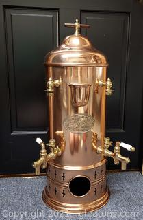 H. J. Astle and Co. Copper and Brass Coffee Urn