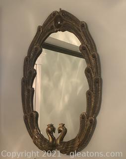 Oval Peacock Mirror