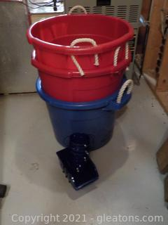 3 Plastic Tubs and More