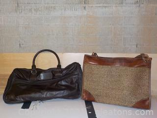 Vintage Carry-On Duffel Bags (2 Pieces)