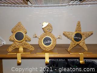 Heavy Gold-Tone Stocking Hangers