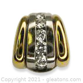 Nice Solid .50 CT Diamond Slide Pendant in 18KT Gold