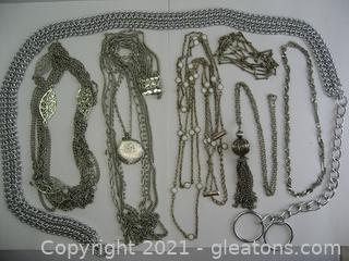 Silver Tone Costume Jewelry Lot