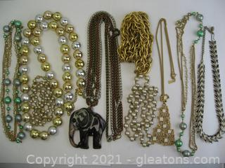 Costume Necklace Lot