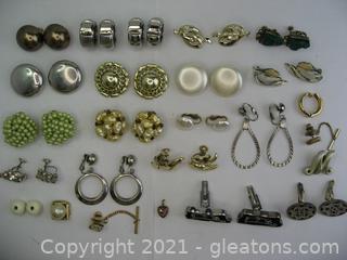 Clip on Earrings & Cufflink Lot