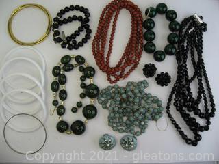 Beaded Jewelry & Bangle Bracelet Lot
