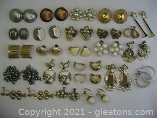 Costume Clip on Earring Lot