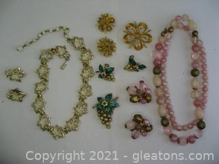4 Sets of Costume Jewelry
