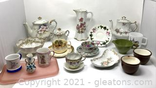 Beautiful Hand Painted Floral China Collection
