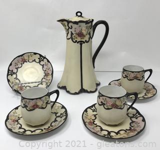 Unique Hand-Painted Tea Set