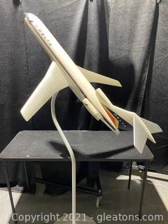 Delta Model Airplane with Stand