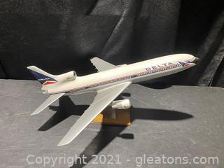 Delta Plastic Model Airplane