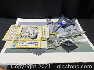 Small Model Airplane Lot with 3 Prints