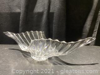 Modern Crystal Ware Centerpiece Bowl