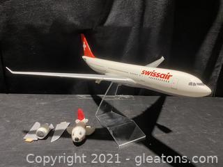 Swissair Model Airplane