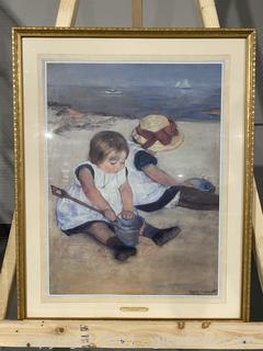 """""""Children Playing on the Beach"""" by Mary Cassett"""