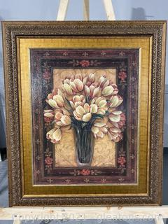 Large Framed Floral Piece
