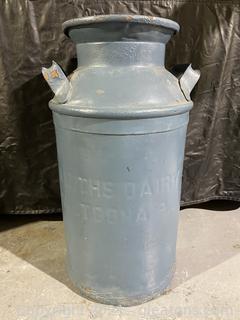 Large Reclaimed Milk Churn