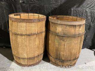 Two Antique Barrels