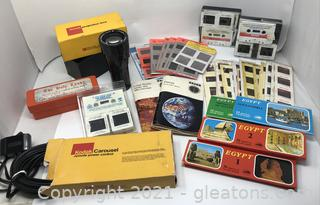 Worldly Collection of Educational Photo Slides and Accessories