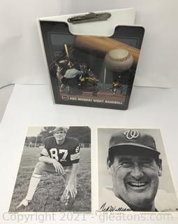 1960s Autographed Sports Photos