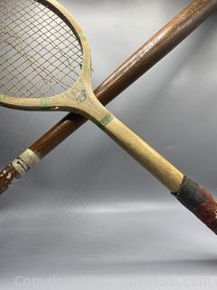 Warwick Golden Crown Tennis Racket and Softball Bat