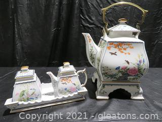 Birds and Flowers of the Orient Tea Set