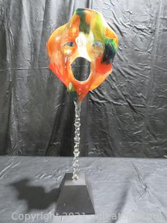 Remarkable Vintage Frabel Glass Sculpture