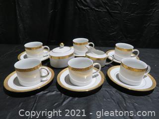 Elegant Royal Gold China Cup Set