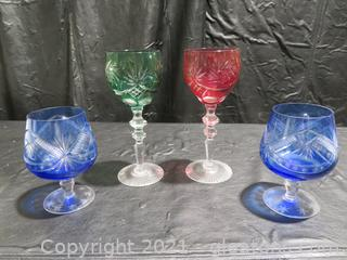 Gorgeous Cut to Clear Crystal Goblets