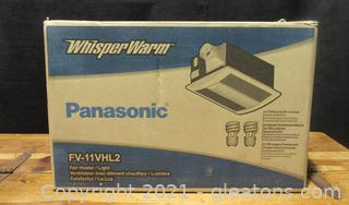 Panasonic Whisper Warm Fan Heater / Light Mode # FV – 11VHL2