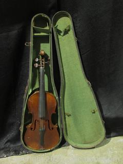 Very Old Antique Violin with Case