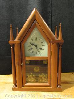 Mason + Sullivan Co. Gothic Steeple Wooden Mantle Clock