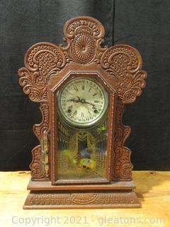 """E Ingraham 8 Day Calendar Chime Mantel Clock- 1915 """"Gila"""""""