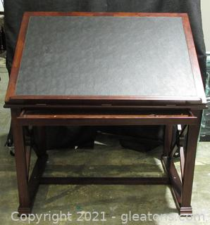 Home Accent Leather Top Adjustable Drafting Table