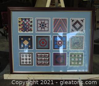Display Barn Quilt Square Prints Each Signed