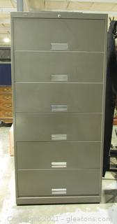 Large Metal Filing Cabinet by Hon