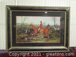 English Hunting Scene Framed Print