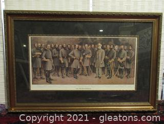 """Framed Print """"Lee And His Generals"""""""