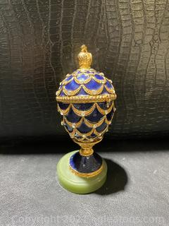 Mini Crown Egg Trinket Box