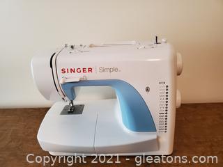 Single Simple Sewing Machine # 3116