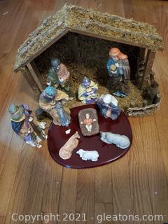 11 Piece Ceramic Nativity Set
