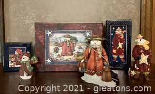 Collectors Snowman 3 Piece Designs