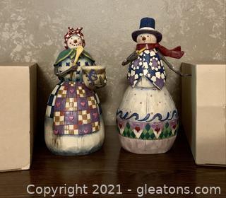 Hart Wood Creek 2 Piece Snowman Figures