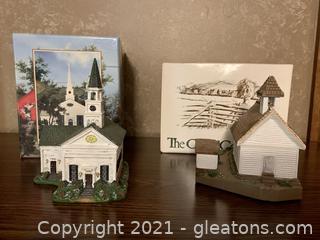 Town Hall Stonington Church and Cades Cove Primitive Church