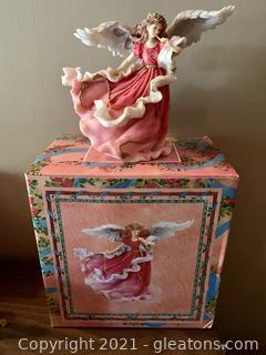 Westland Crystalline Red Angel Music Box