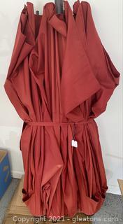 Medium Red XXL Patio Umbrella